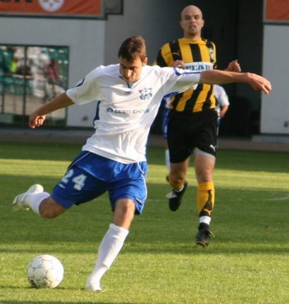 Sergei Zenjov 2007. aastal TVMK särgis. Foto: Soccernet.ee arhiiv