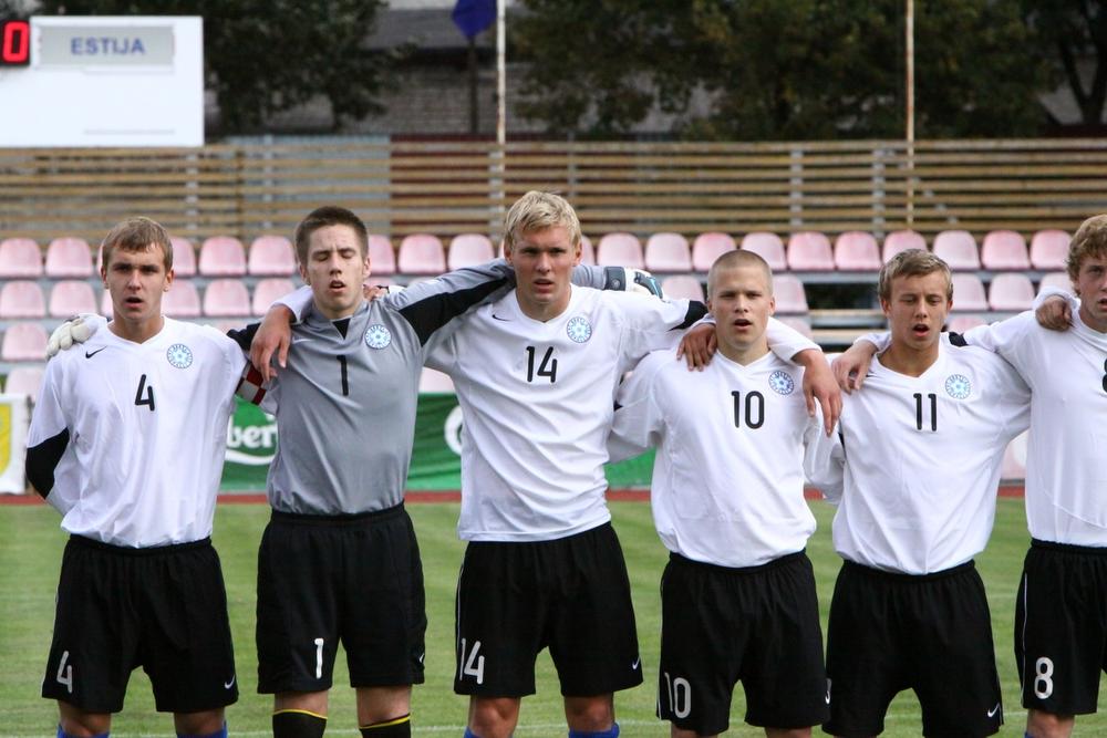 5119c6ad43a Portugalile vastu ei saadud. Foto: Catherine Kõrtsmik (arhiiv). Eesti U-19  jalgpallikoondis ...