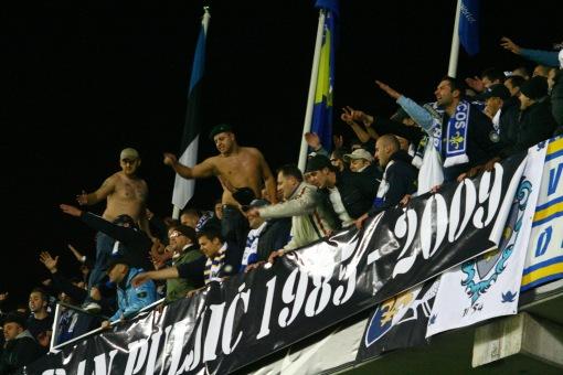 Värvikad Bosnia ja Hertsegoviina toetajad. Foto: Agne Rauba