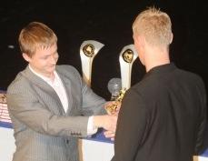 Sander Post valiti Meistriliiga hooaja parimaks mängijaks ja ka fännide lemmikuks. Foto: Heiki Rebane