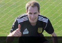 Alo Dupikov Egersundi särgis. Foto: eikfotball.no