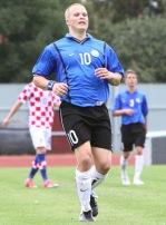 Henrik Ojamaa Horvaatia vastu - aasta oli siis 2009 ning vanuseklassiks U-19. Foto: Catherine Kõrtsmik