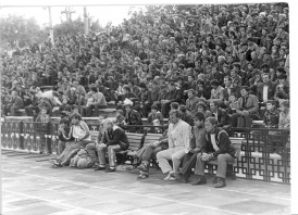 Praegune Pärnu Kalevi staadion vaevalt mäletab sellist publikuhulka. Foto: Erakogu