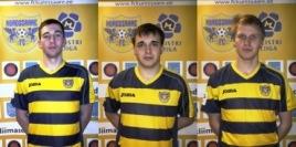 Raiko Karpov, Ott Reinike, Andro Aavik. Foto: FC Kuressaare kodulehekülg