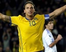 Zlatan karistas eestlasi kahe kolliga. Foto: spelsajten.nu