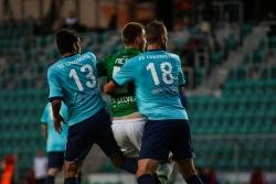 Jõhvi Lokomotivi mehed eelmisel aastal liigamängus FC Flora vastu. Foto: Brit Maria Tael