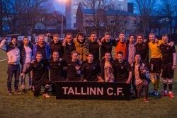 Tallinn C.F. pärast eelmise vooru 6:1 võitu Dünamo üle. Foto: Tallinn C.F. Facebook