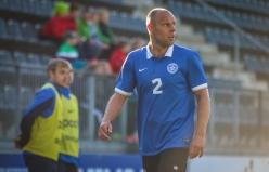 Joel Lindpere teeb oma 100. mängu Eesti koondises. Foto: Jana Pipar