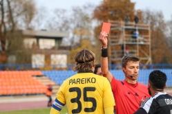 Tohver andis ühe nädala jooksul väravavahtidele lausa kaks punast kaarti. Foto: Brit Maria Tael
