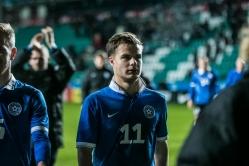 Rauno Sappineni väravasööt aitas Eesti viigini. Foto: Brit Maria Tael