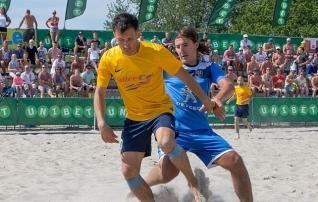 Eesti rannajalgpallur sõidab Läti meistermeeskonnaga Itaaliasse turniirile