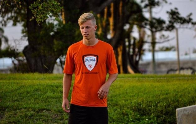 Eelmisel suvel mängis Pajunurm Palm Beach Sunsis, tänavu hoidis end koolis kohustuslikuks oleva praktika tegemise ajal vormis Richmond FC-s. Foto: Erakogu