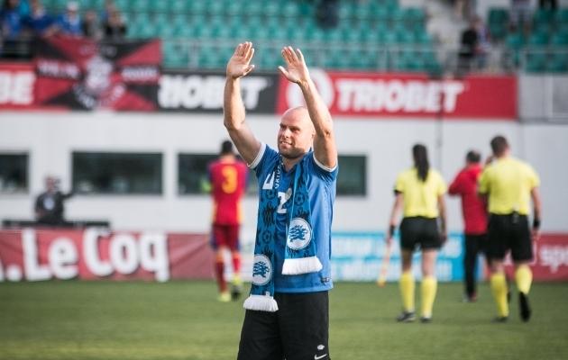 1. juuni 2016 - Päev, mil Lindpere pidas oma viimase mängu rahvuskoondise eest. Foto: Jana Pipar