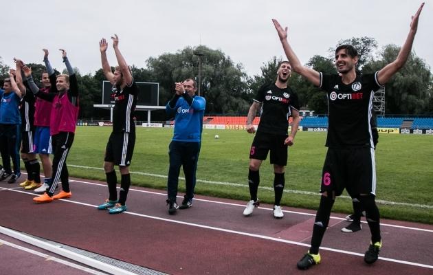 Nõmme Kalju ajaloo suuremaid triumfe eurosarjas oli 2016. aasta võit Haifa Maccabi üle Euroopa liiga teises eelringis. Foto: Jana Pipar / jalgpall.ee