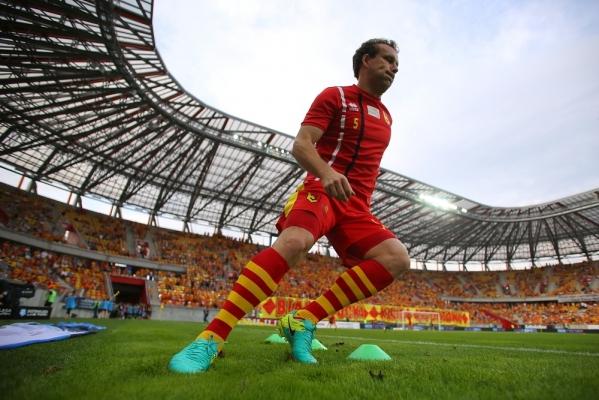 Konstantin Vassiljev on sel hooajal oma koduklubi Bialystoki Jagielloniat juba tassinud. Nüüd tuleb ilmselt sama teha ka koondises. Foto: jagiellonia.pl