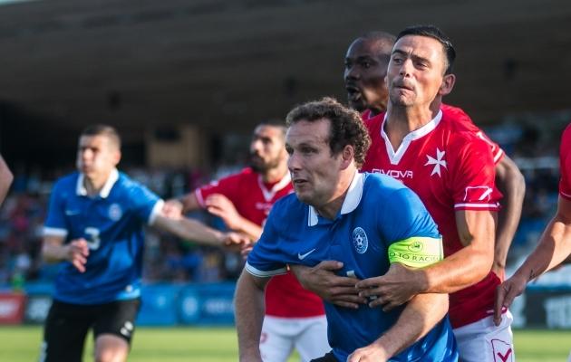 Võib juhtuda, et just mäng Maltaga on Konstantin Vassiljevile 100. kohtumine koondisesärgis. Foto: Jana Pipar / EJL