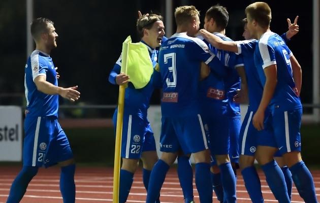 Tartu Tammeka on meeskond, kes on sel hooajal pakkunud jalgpallihuvilistele rohkesti nauditavaid hetki. Foto: Imre Pühvel