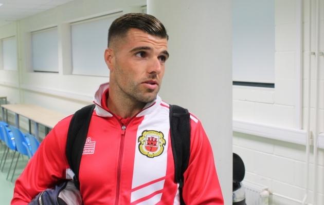 Liam Walker lõi Kreeka vastu iluvärava ja ütles, et ainus asi, mis tolles mängus halvasti oli, olid kolm minutit, mil oma viigiseis kindlaks kaotuseks muudeti. Foto: Kasper Elissaar
