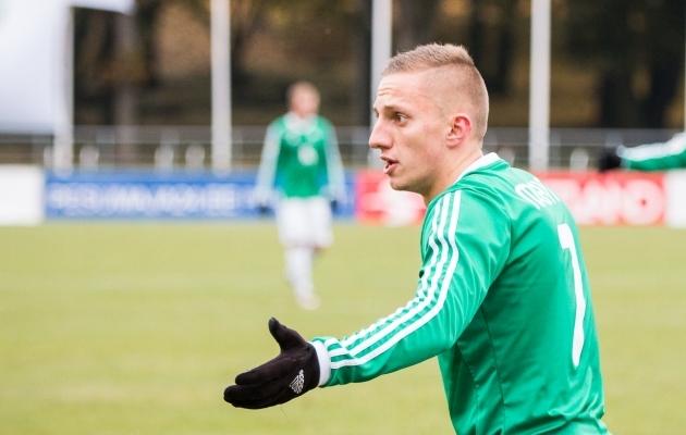 Pavel Marin tõusis täna Levadias esile ning see on talle ka koondisekutsed toonud. Foto: Brit Maria Tael