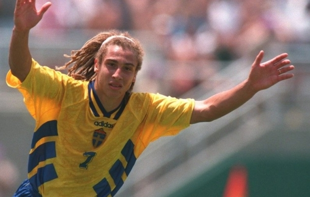 Henrik Larsson lõi Rootsi eest 106 mängus 37 väravat. Foto: Twitter