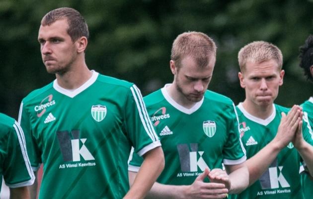 Marek Kaljumäe (vasakul) ja Ilja Antonov (paremal) ilmselt uuel hooajal Levadia särki ei kanna. Foto: Brit Maria Tael