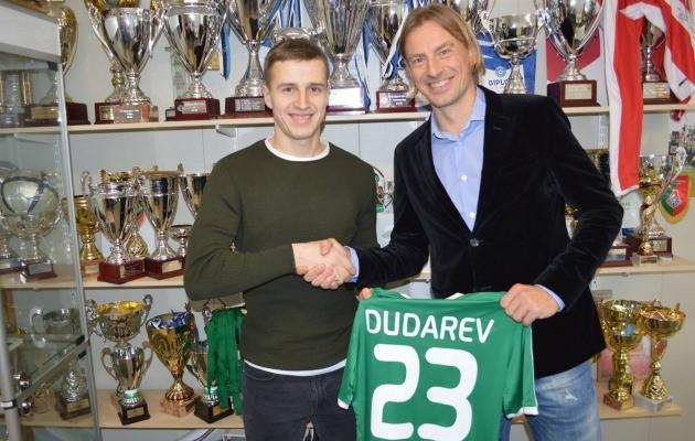 Igor Dudarev ja Levadia spordidirektor Sergei Pareiko. Foto: FC Levadia