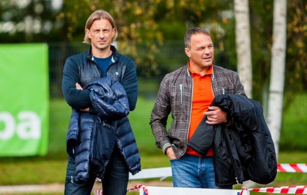 Levadia spordidirektor Sergei Pareiko ja tegevjuht Sergei Hohlov-Simson. Foto: Gertrud Alatare
