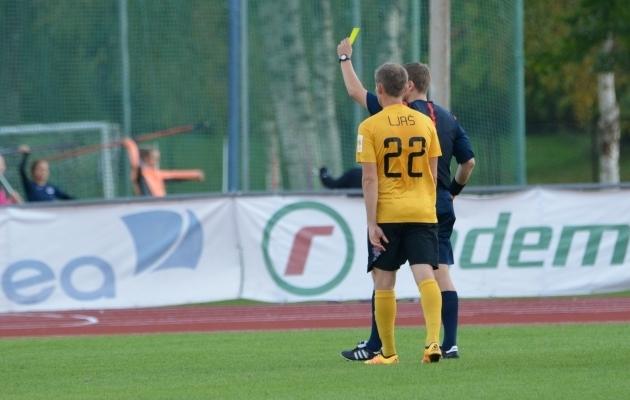 Joonas Ljaš lõi Esiliiga 2017. hooaja esimese värava. Foto: Liisi Troska