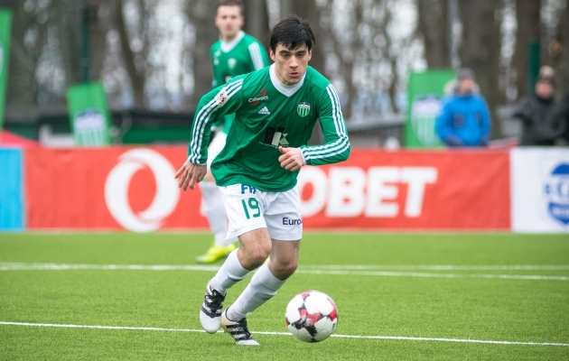 Horvaat Josip Krznaric esindab sel hooajal FC Levadiat. Foto: Jana Pipar / EJL