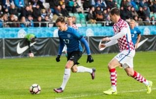 Esimesel minutil värava löönud Luts: vastasmängija ütles, et mängime jalgpalli asemel ragbit