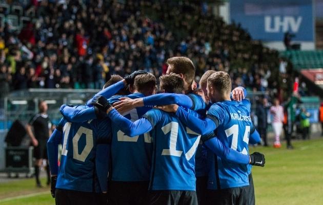 Jalgpallisõpradel on võimalik Eesti koondise osaks kehastuda. Foto: Brit Maria Tael