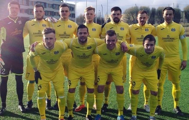 Kuressaare tõusis tänase võidu toel liigatabelis kolmandale kohale. Foto: FC Kuressaare Facebook