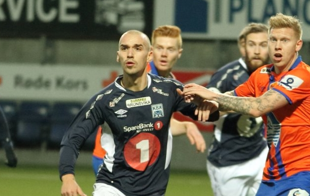 Esimese välisklubina mängis Baranov Kristiansundis. Foto: kristiansundbk.no