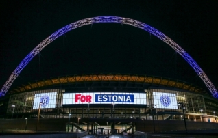 Foto: Wembley staadion tänas Eestit