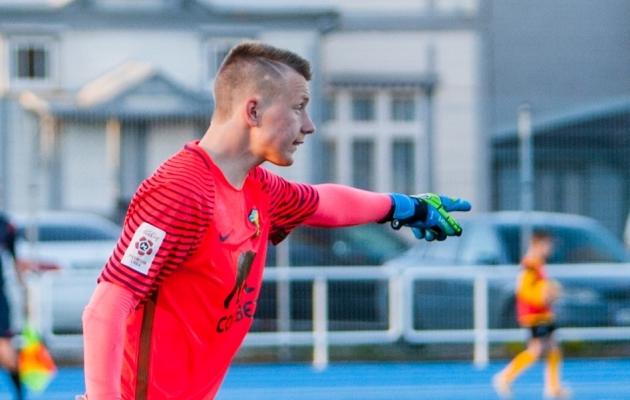 Vapruse väravavaht Andreas Kallaste mängiti kolmel korral üle. Foto: Gertrud Alatare