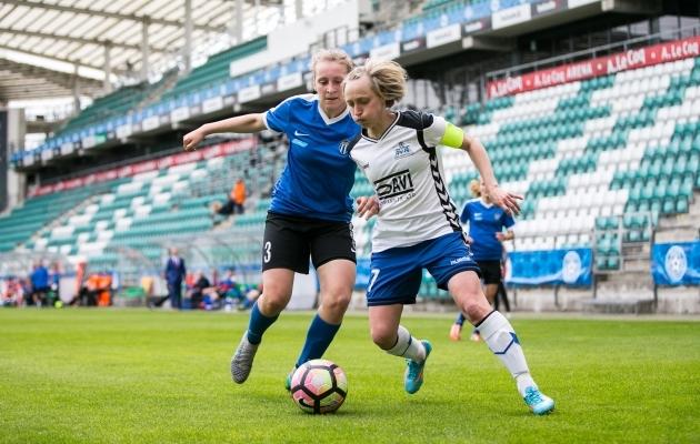 Eesti meistriliiga klubide tasemevahe on väga suur: karikafinaalis Pärnu JK lausa purustas Tallinna Kalevi. Foto: Brit Maria Tael
