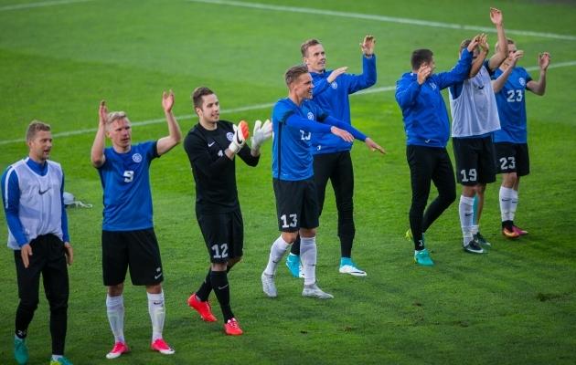Eesti kaotas eelmisel kuul Belgiale ja võitis Lätit. Foto: Brit Maria Tael