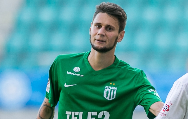 Tabeliliidri FC Flora ainsaks suviseks täienduseks on Roman Sobtšenko, kes tuli üle rivaalklubi FC Infoneti ridadest. Foto: Brit Maria Tael