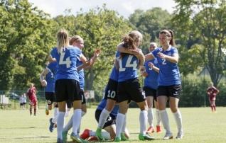 Eesti U19 tüdrukud võitsid leedulannasid koguni viie väravaga