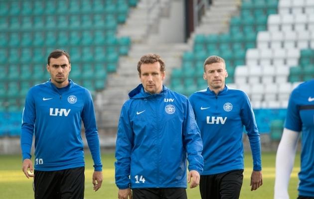 Koondislased Sergei Zenjov, Konstantin Vassiljev ja Aleksandr Dmitrijev on kõik suvel klubi vahetanud. Foto: Oliver Tsupsman