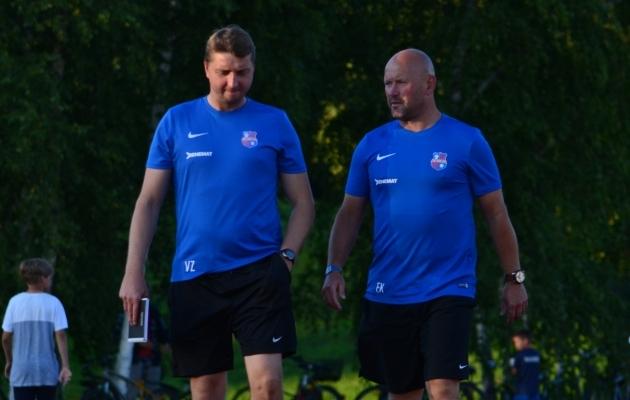 Vjatšeslav Zahovaikol (vasakul) ja Erki Keskülal on peamurdmist küllaga. Foto: Liisi Troska