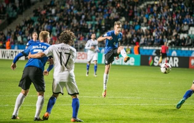 Just nii lõi Mattias Käit värava, mis tõi talle EJAK-ilt esimese Hõbepalli. Foto: Brit Maria Tael