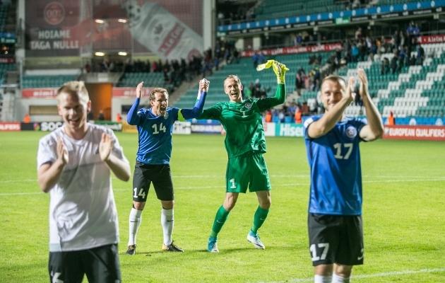 Eesti hea mäng andis palluritele võimaluse rõõmustamiseks. Foto: Brit Maria Tael