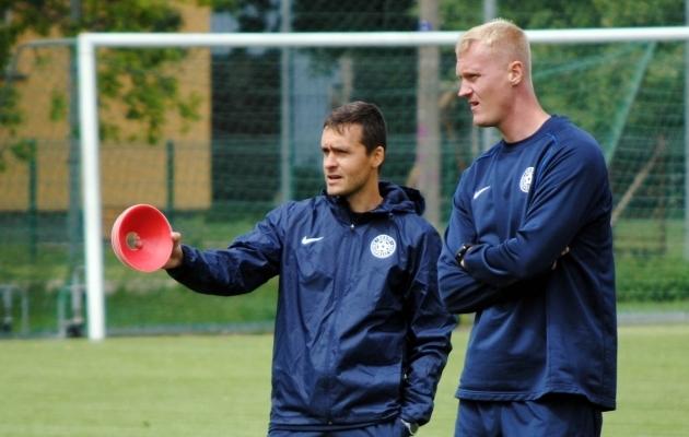 Norbert Hurt ja Sander Post. Foto: jalgpall.ee