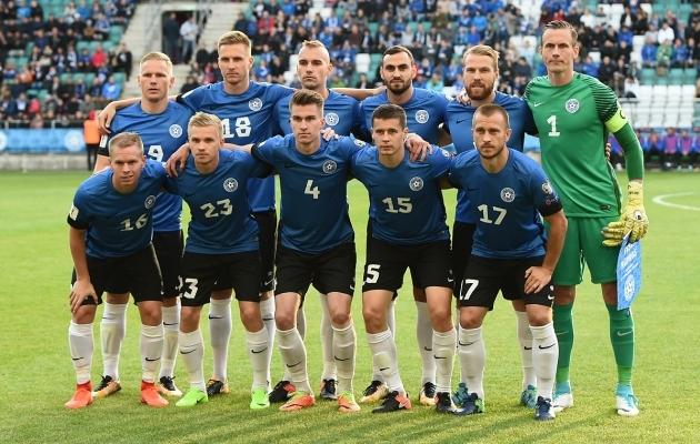 Eesti koondis alistas septembris Küprose ja tegi viigi Kreekaga. Foto: Imre Pühvel