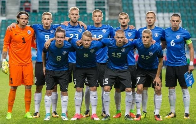 U21 algkoosseis septembris Hispaania vastu. Foto: Brit Maria Tael