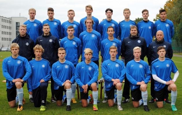 U18 koondis eelmisel sügisel. Foto: jalgpall.ee