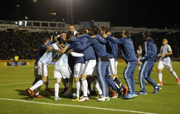 Argentina 3, Ecuador 1. Koht MM-ile on tagatud. Foto: middletownpress.com