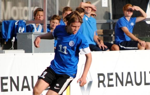 Võistlustules. U17 koondises 11/0, U16 koondises 2/0, U15 koondisega Eliitliigas 3/3. Foto: jalgpall.ee