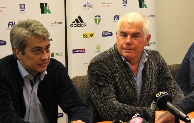 Levada paremal, Andrei Leškin vasakul. Foto: Kasper Elissaar